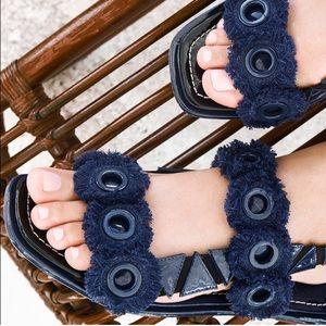 Tory Burch Freya Eyelet Slingback Sandal Size 10